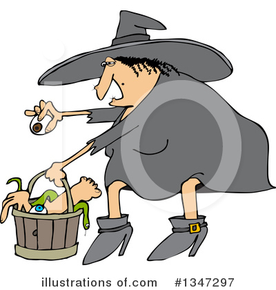 Witch Clipart #1347297 by djart