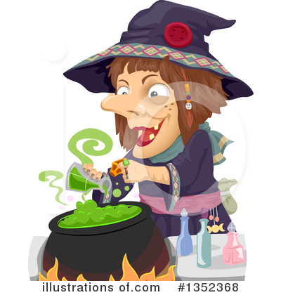 Witch Clipart #1352368 by BNP Design Studio