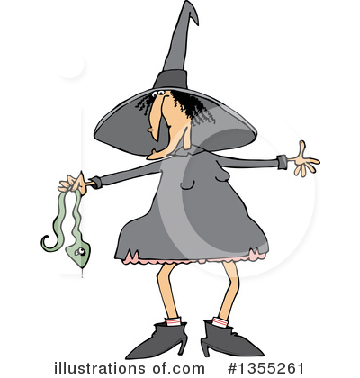 Royalty-Free (RF) Witch Clipart Illustration by djart - Stock Sample #1355261