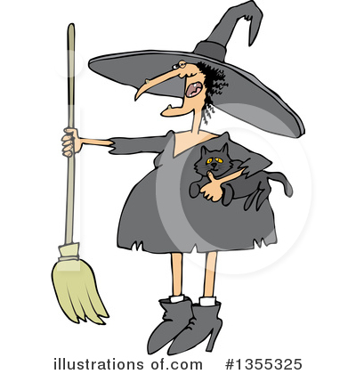 Royalty-Free (RF) Witch Clipart Illustration by djart - Stock Sample #1355325