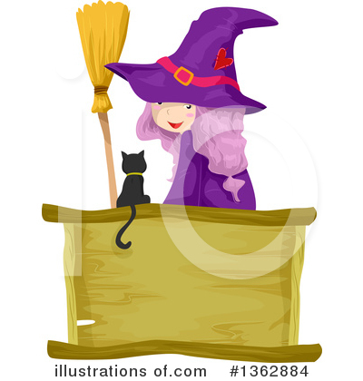 Witch Cat Clipart #1362884 by BNP Design Studio