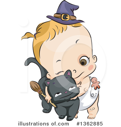 Witch Cat Clipart #1362885 by BNP Design Studio