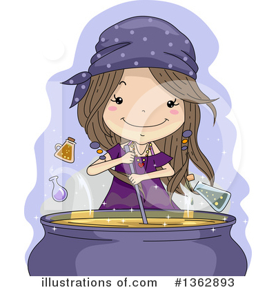 Witch Clipart #1362893 by BNP Design Studio