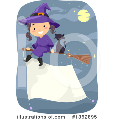 Witch Cat Clipart #1362895 by BNP Design Studio