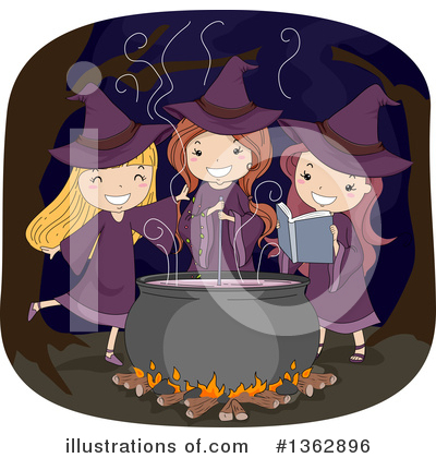 Witch Clipart #1362896 by BNP Design Studio