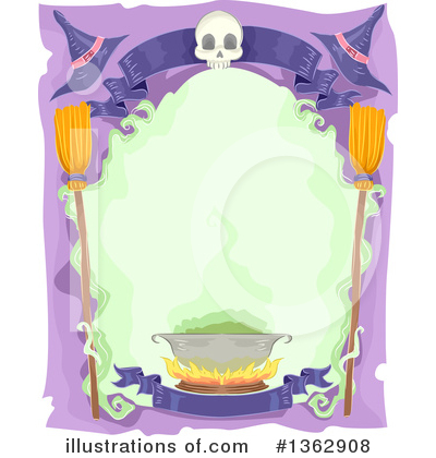 Royalty-Free (RF) Witch Clipart Illustration by BNP Design Studio - Stock Sample #1362908