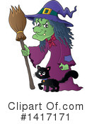 Royalty-Free (RF) Witch Clipart Illustration #1417171