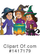 Royalty-Free (RF) Witch Clipart Illustration #1417179