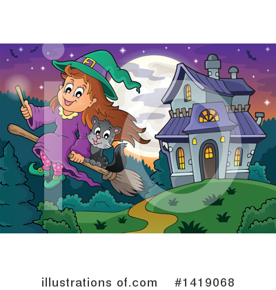 Witchcraft Clipart #1419068 by visekart