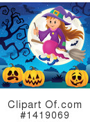 Witch Clipart #1419069 by visekart