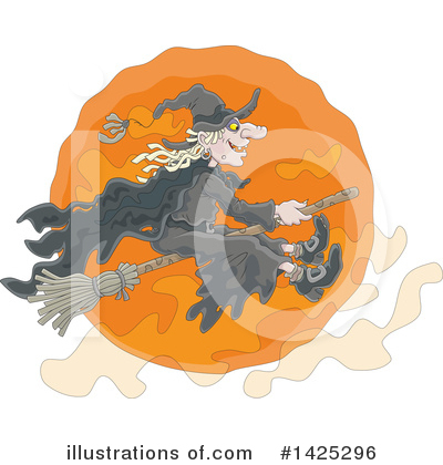 Witch Clipart #1425296 by Alex Bannykh