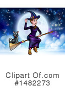 Royalty-Free (RF) Witch Clipart Illustration #1482273