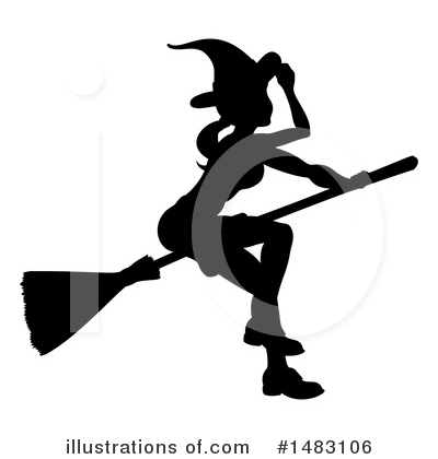 Royalty-Free (RF) Witch Clipart Illustration by AtStockIllustration - Stock Sample #1483106