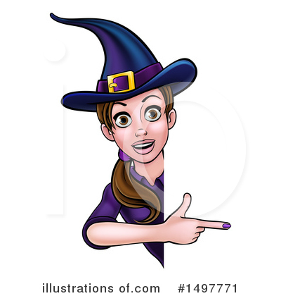 Witch Clipart #1497771 by AtStockIllustration