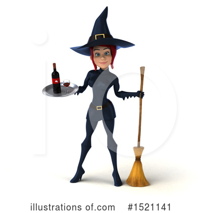 Blue Witch Clipart #1521141 by Julos