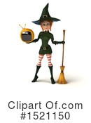 Witch Clipart #1521150 by Julos