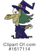 Witch Clipart #1617114 by toonaday