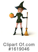 Witch Clipart #1619046 by Julos