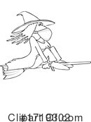 Witch Clipart #1719302 by djart