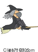 Witch Clipart #1719305 by djart
