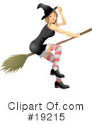 Royalty-Free (RF) Witch Clipart Illustration #19215