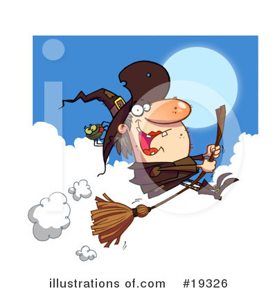 Royalty-Free (RF) Witch Clipart Illustration by Hit Toon - Stock Sample #19326