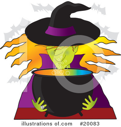 Witch Clipart #20083 by Maria Bell