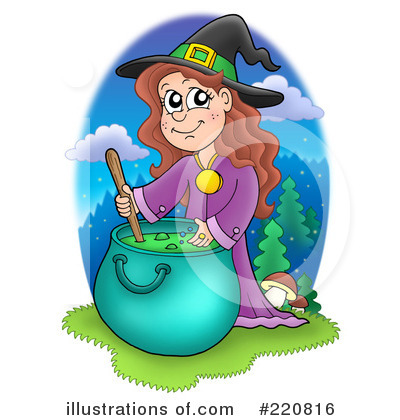 Royalty-Free (RF) Witch Clipart Illustration by visekart - Stock Sample #220816