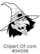 Witch Clipart #34096 by Lawrence Christmas Illustration