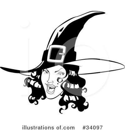 Witch Clipart #34097 by Lawrence Christmas Illustration