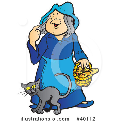 Witchs Cat Clipart #40112 by Snowy