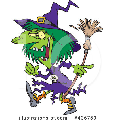 Witch Clipart #436759 by toonaday