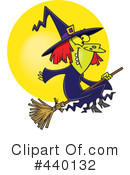Witch Clipart #440132 by toonaday