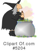 Royalty-Free (RF) witch Clipart Illustration #5204