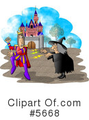 Royalty-Free (RF) witch Clipart Illustration #5668