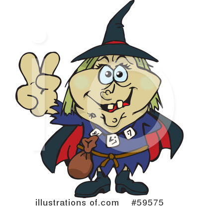Witch Clipart #59575 by Dennis Holmes Designs