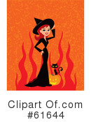 Royalty-Free (RF) witch Clipart Illustration #61644