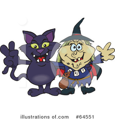 Witch Clipart #64551 by Dennis Holmes Designs