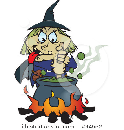 Witch Clipart #64552 by Dennis Holmes Designs