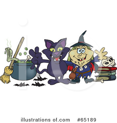 Royalty-Free (RF) Witch Clipart Illustration by Dennis Holmes Designs - Stock Sample #65189