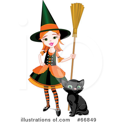 Witch Clipart #66849 by Pushkin