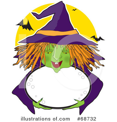 Royalty-Free (RF) Witch Clipart Illustration by Maria Bell - Stock Sample #68732