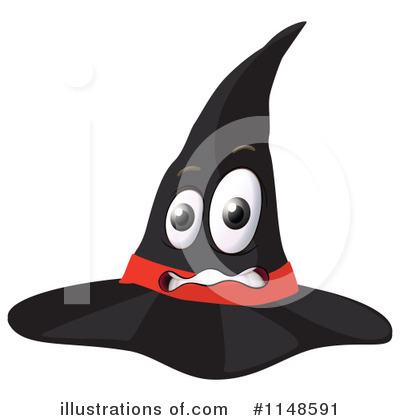 Witch Hat Clipart #1148591 by Graphics RF