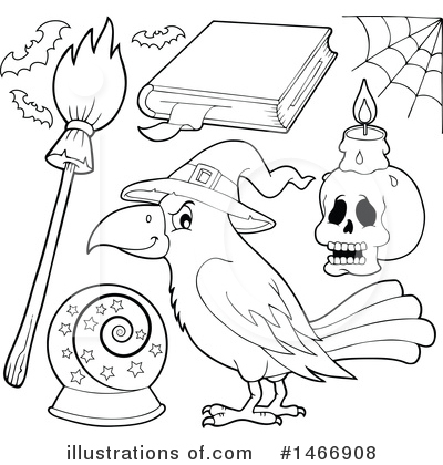 Spell Book Clipart #1466908 by visekart