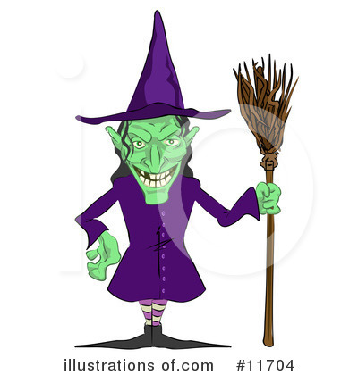 Witch Clipart #11704 by AtStockIllustration
