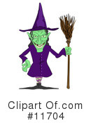 Royalty-Free (RF) Witches Clipart Illustration #11704
