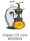 Royalty-Free (RF) Witchs Cat Clipart Illustration #226846