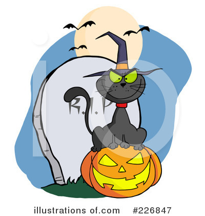 Witchs Cat Clipart #226847 by Hit Toon