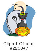 Royalty-Free (RF) Witchs Cat Clipart Illustration #226847