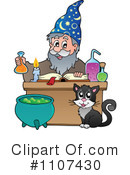 Royalty-Free (RF) Wizard Clipart Illustration #1107430
